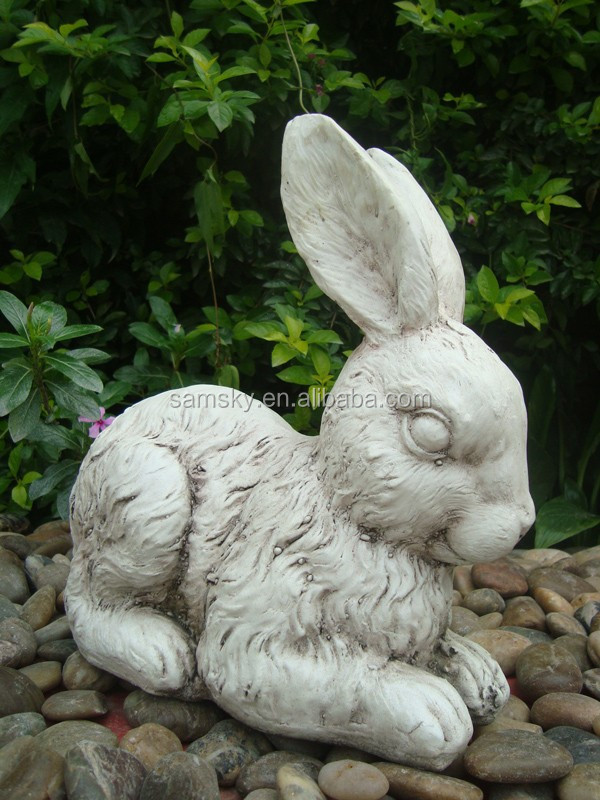 garden decorative stone rabbit sculpture