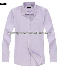 Cotton Oxford Classic fit Lilac casual/leisure long sleeve shirt for men