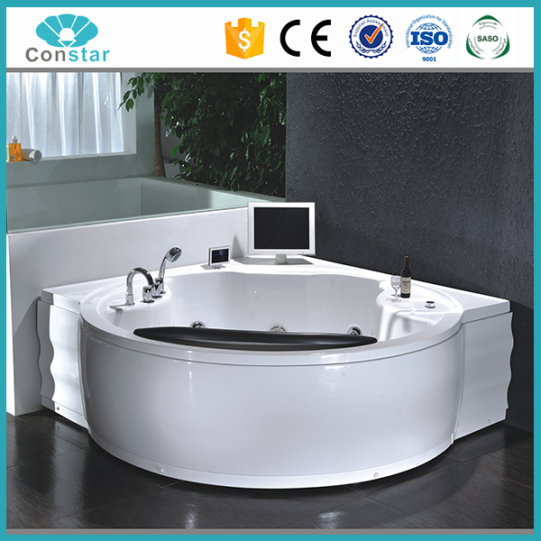180x180 big large space spacious outdoor spa surfing jets popular modern cheap whirlpool bathtub with water pump