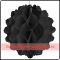 "12"" Black Honeycomb Ball Paper Lanterns Chic Party Wedding Table Decoration"