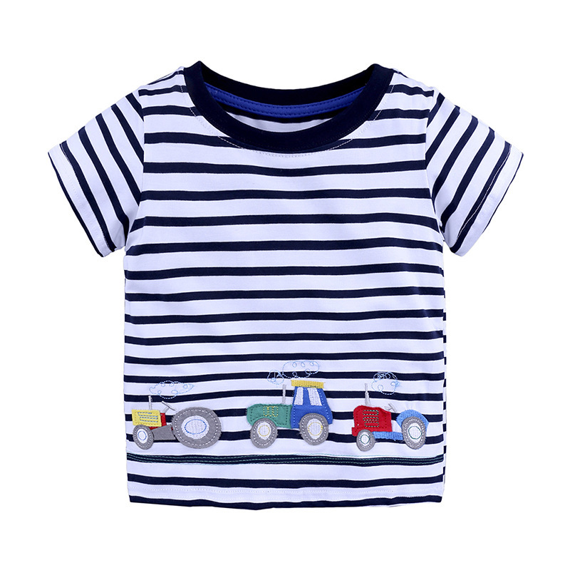 2018 Ready Made Garments Wholesale Clothing Kids Stripe T Shirt