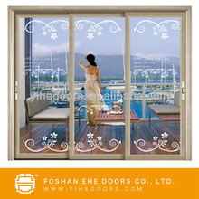 garage sliding screen door/beautiful balcony door/aluminum door