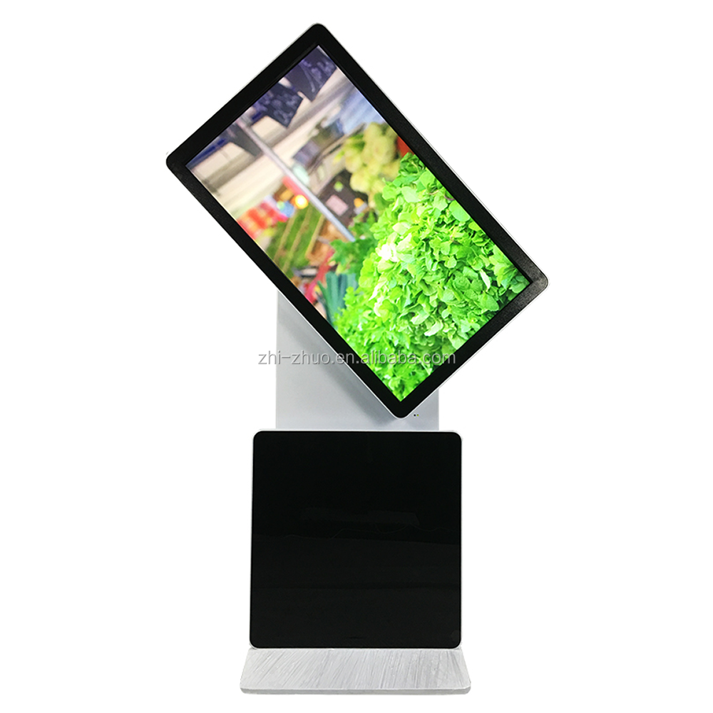 55 inch UHD Floor Stand Rotating Touch Screen Self-service Terminal Kiosk