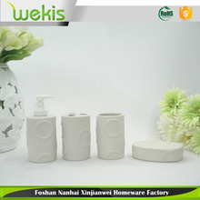 4 Pcs Toilet and Bathroom Accessories Set Ceramic Bathroom Set