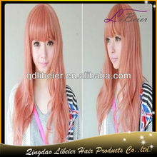 China hair factory wholesale price, fast shipping cheap remy pink lace front wig