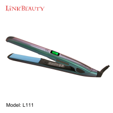 "Worldwide Dual Voltage 110-240V with Heat Resistant Travel Bag, Salona Professional 1"" Titanium Flat Iron Hair Straightener"