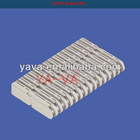 Plastic modular conveyor belt with corrugation for conveyor parts