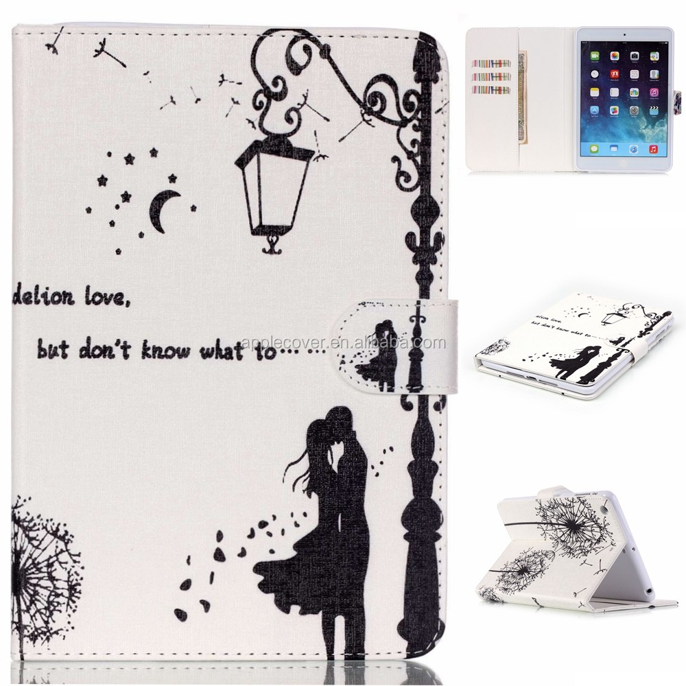 Hot Selling Girl Style Flip Leather Cases for iPad Mini2 , for iPad Mini 2 Covers