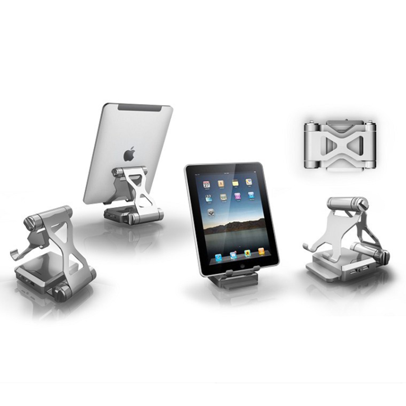 Foldable tablet holder desk with power bank/external battery pack for iphone/smartphone and tablet pc iPad