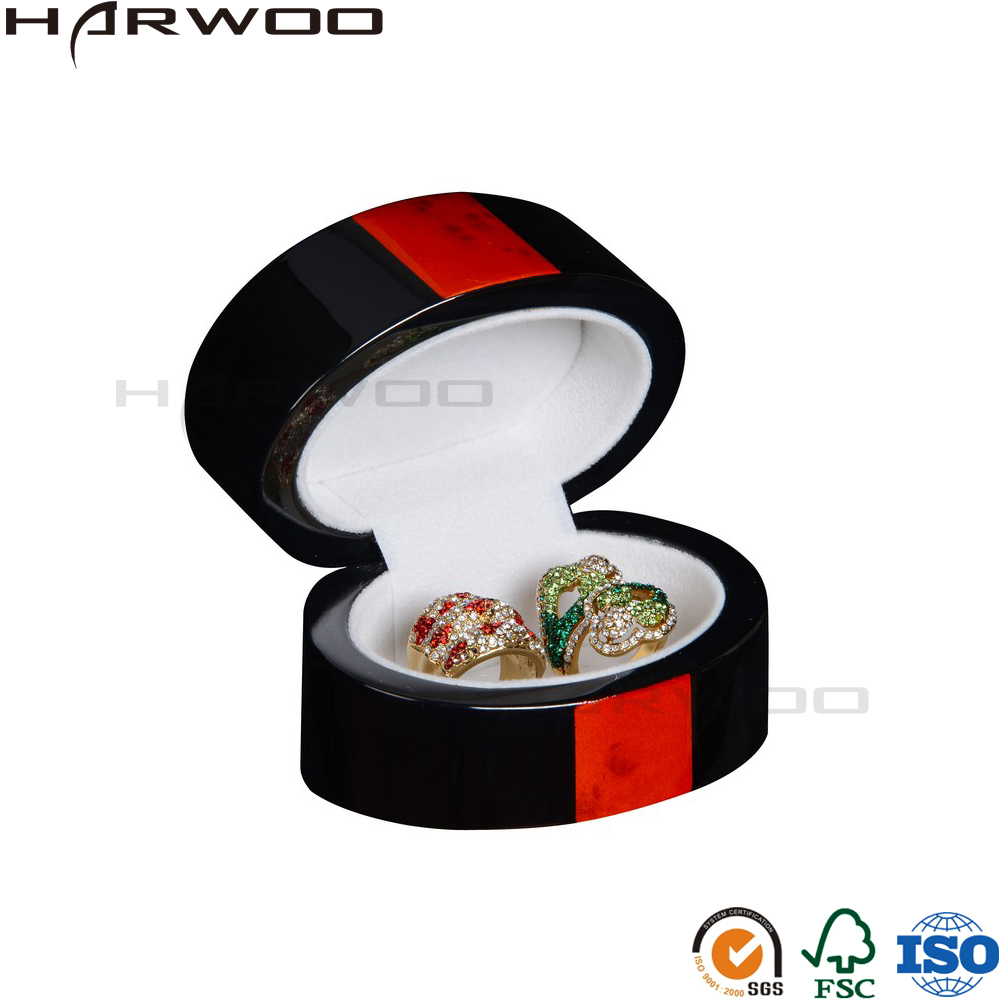 Harwoo brand ring box jewelry cheap high quality round jewelry box custom ring box