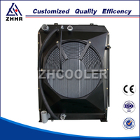 Fin type air to oil combi cooler for sale