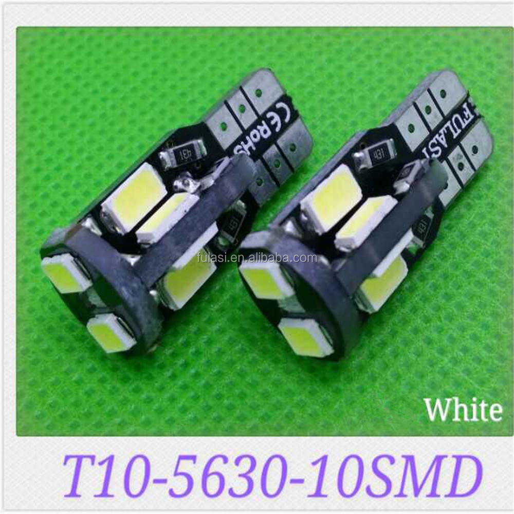 Hot Selling led width lamp t10, universal used car bulb led lighting, 10smd 5630 car light led t10