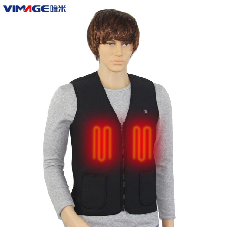 Wholesales Soft Electrical 5V USB Battery Heating Vest