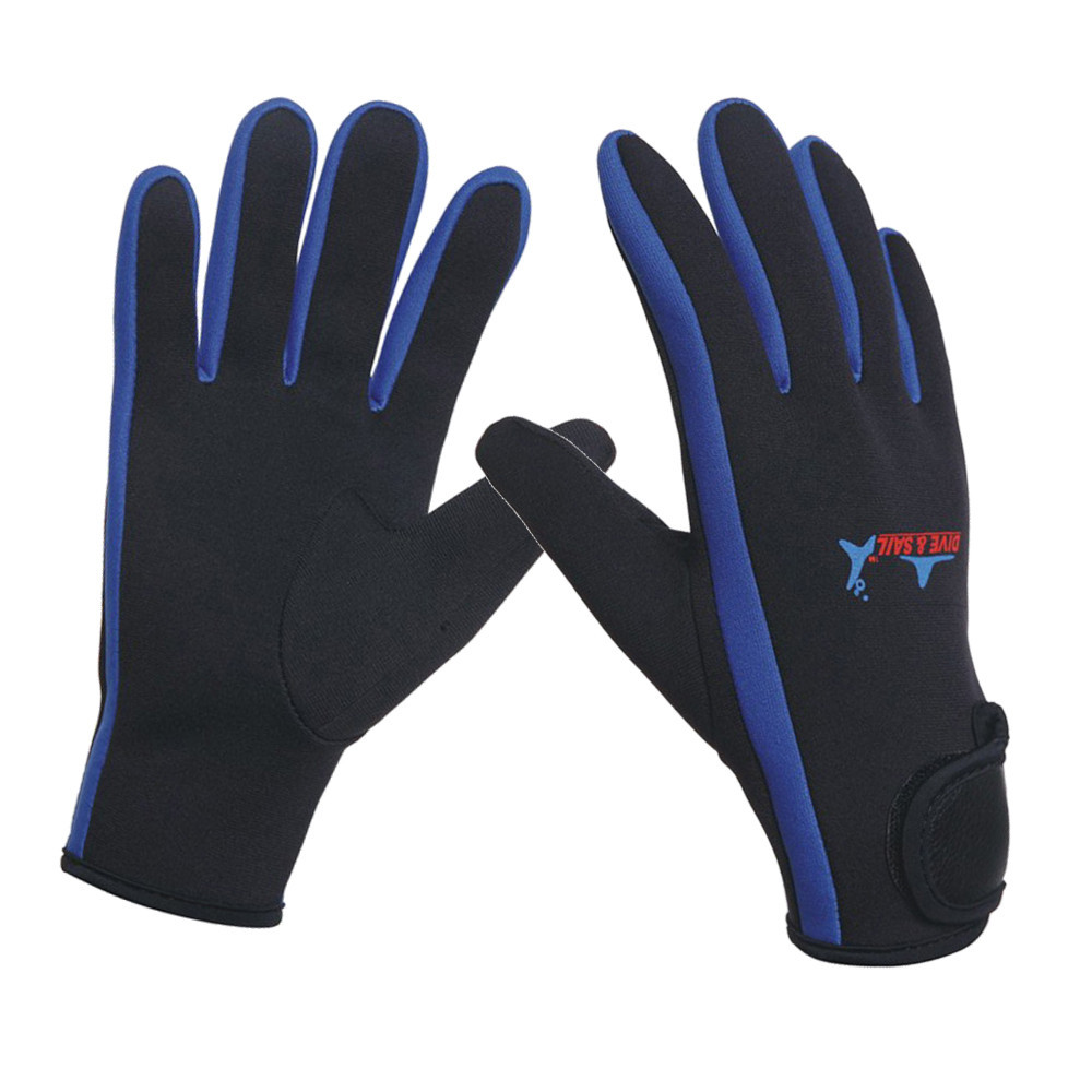 1.5mm neoprene swimming diving gloves with magic stick warm anti-slip gloves for winter swimming