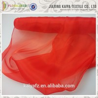 China factory made soft red wedding decoration organza silk