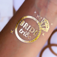 Bride Tribe Bridesmaids Flash Temporary Tattoos