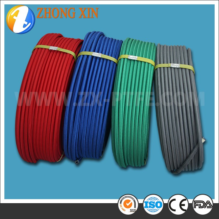 Exhaust braided flex ptfe pipe with cotton