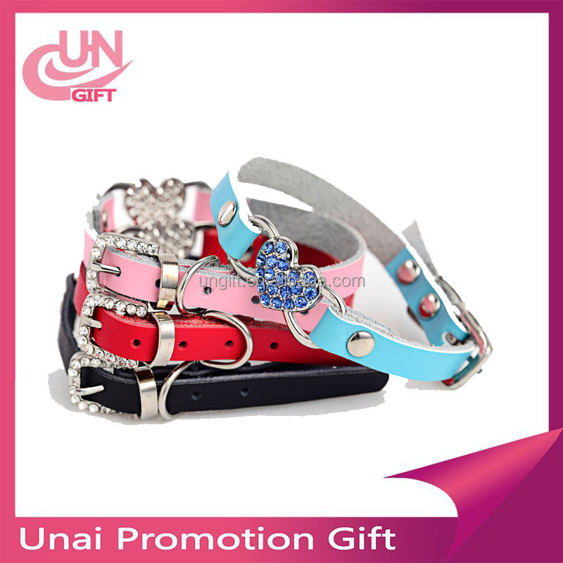 Hot selling bling rhinestone pet cute dog bow tie collar