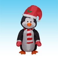 DJIU 48inches Holiday Air blown Inflatable PENGUIN led LIghts up Christmas Yard