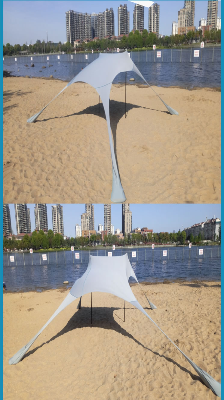 Portable Easy Pop Up Beach Stretch Fabric Sun Shade Tent Canopy Sunshade