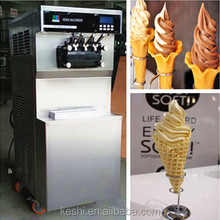 Floor model commercial soft ice cream machine with pre-cooling and counting function
