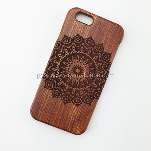 laser engraving cell phone case for iphone , ultra slim mobile case natural wood cover for iPhone 5/5S/ 6/6S