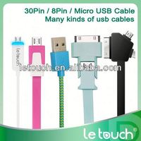 Le Touch usb charging sync usb flat cable for iphone 5