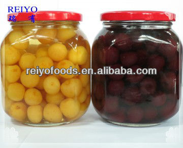 canned white cherries