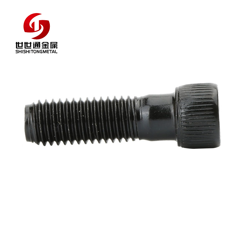 China Fasteners Stainless Steel / Carbon Steel / Aluminium / Titanium Cap Head Hex Socket Step Screw Black Knurled Head Screw