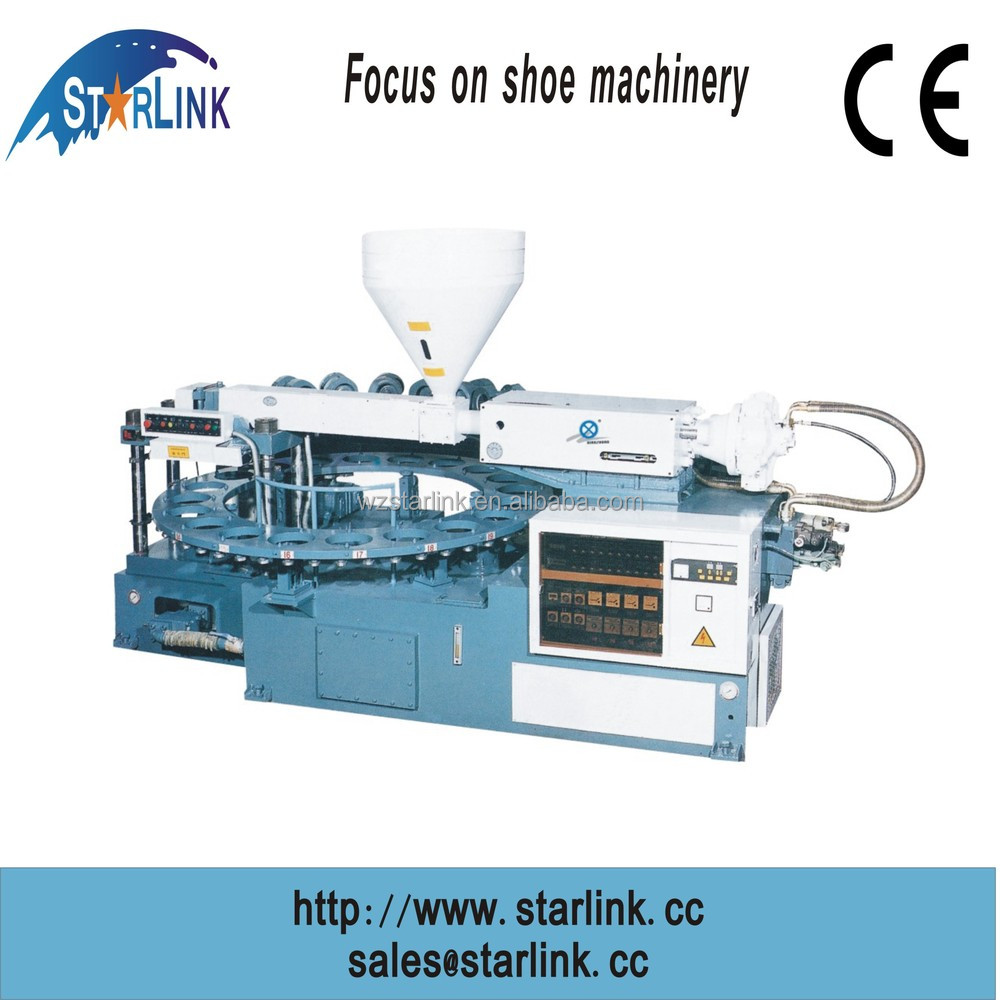 Wenzhou STARLINK Best Sale in China PVC TPR single color rotary injection child shoe sole making machine