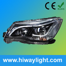 Hiway High quality OEM car 12V LED HID car headlight assembly for Subaru forester