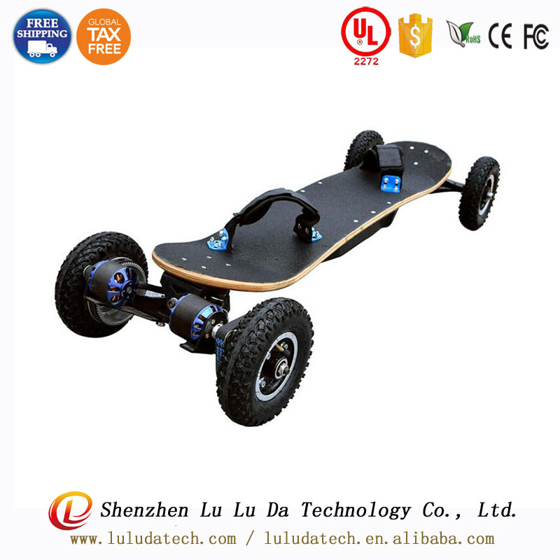 Free shipping 36V 11000mah Lithium battery four wheel <strong>Electric</strong>-Mountain Board 1650W <strong>electric</strong> scooter