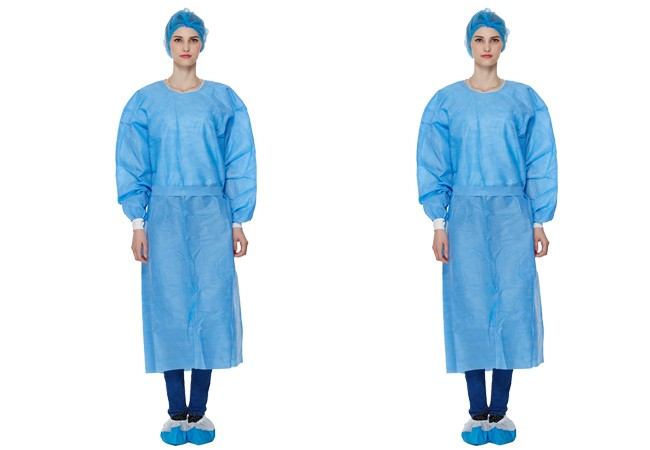 Xian tao 2017 high quality biological chemical protection suit/disposable non-woven surgical gown