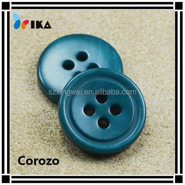 15mm fancy colorful natural corozo button