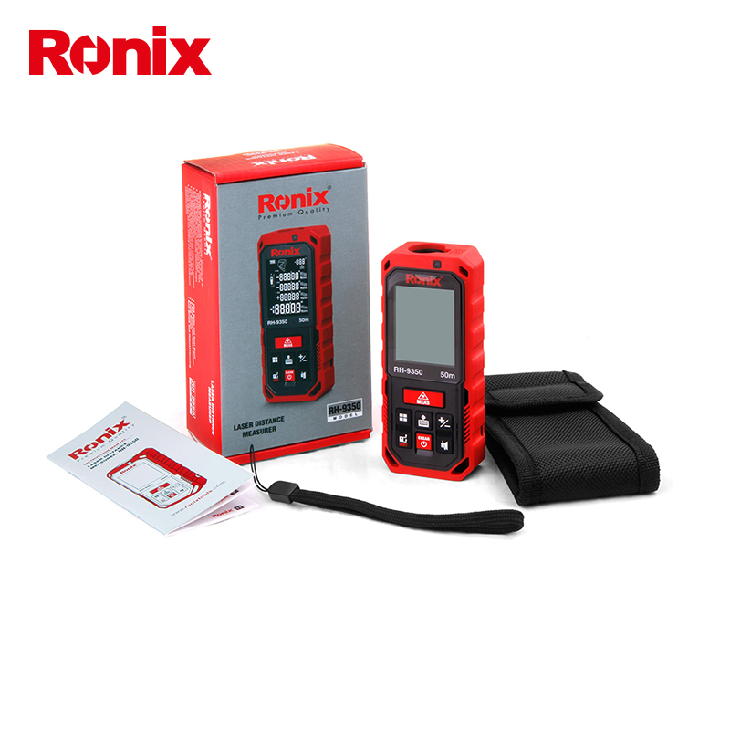 ronix 2018 new model High Precision Cheap Portable Laser Distance Meter Measure Laser Rangefinders 50m RH-9350 in stock