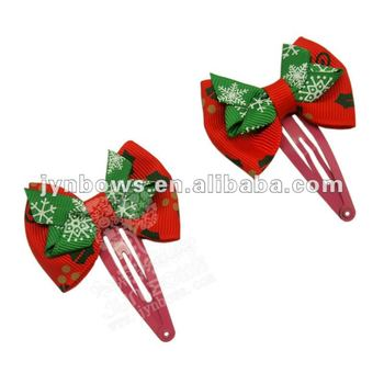 grosgrain christmas hair bows metal clip view metal clip jynbows