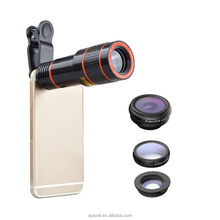wholesale mobile accessories universal smartphone 4 in 1 camera lenses kit