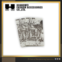 Custom High-grade Black and White Swing Garment Hang Tags For Clothing