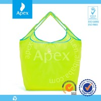 Promotion foldable polyester shopping tote bag