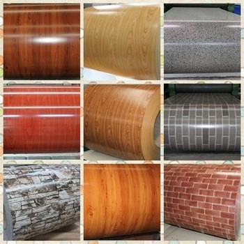 wholesale construction materials zinc printing plates PPGI sheet price /wooden ppgi/prepainted galvanized steel coil