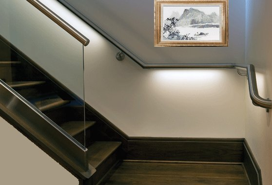 Stainless steel Handrail Tube Led Lighting
