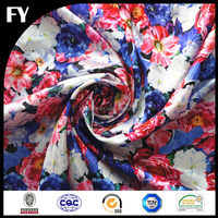 Custom digital printed rosette fabric with own designs