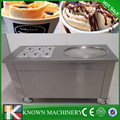 110v Fast cooling fried ice cream machine with 6 Cold Toppings