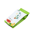 Custom printing sealable laminated foil empty tea bag with tear notch