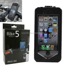 360 degrees rotation V-style ABS Bike Protective Case for iPhone5/5S,iPhone4/4s,Samsung Galaxy S3/S4 with extra wide angle lens