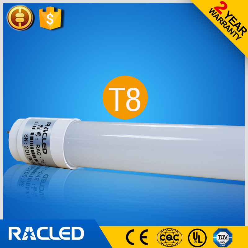 high lumen all Single-ended power supply cool white 6000k 100lm/w 1200mm glass t8 led tube t8 18w