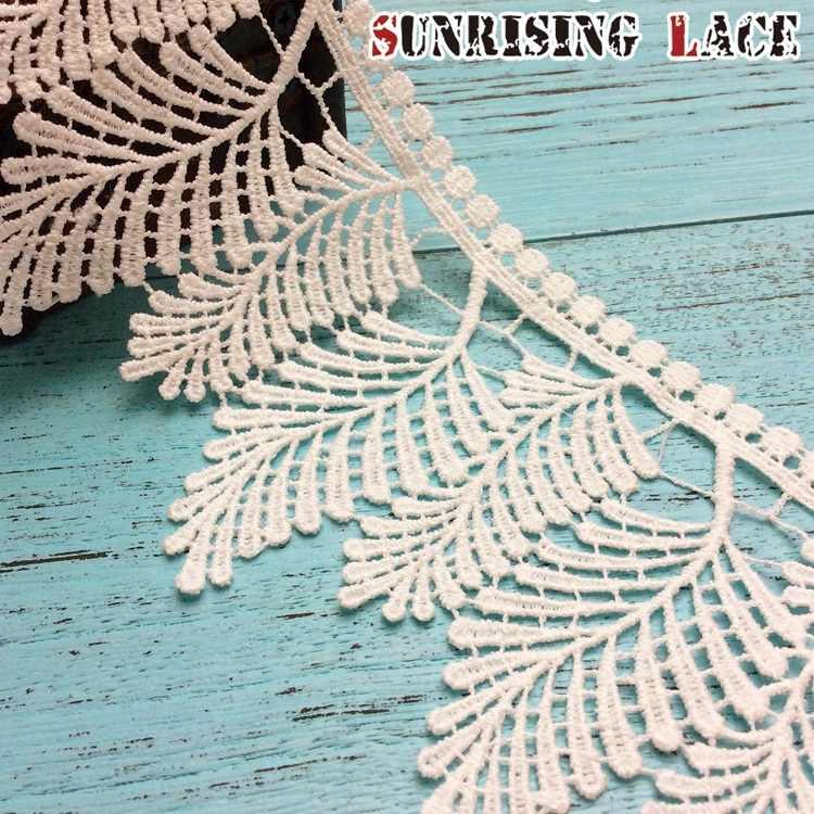 African Guipure White Embroidery Venice Cotton Lace Trim