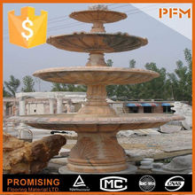 Outdoor villa garden design travertine factory supply water curtain music fountain with remote controller