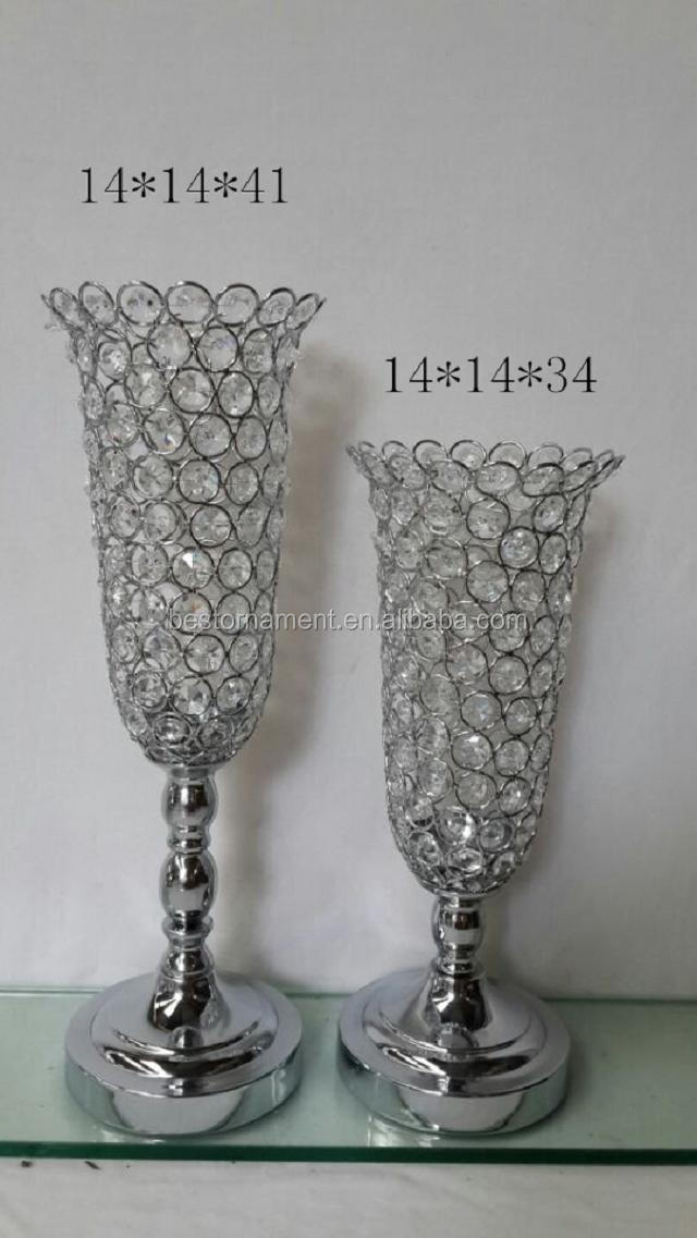 Silver wholesale wedding centerpiece vases buy