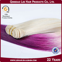Direct Hair Factory Discount 100% Top Quality Wholesale Remy multi-colored braiding hair